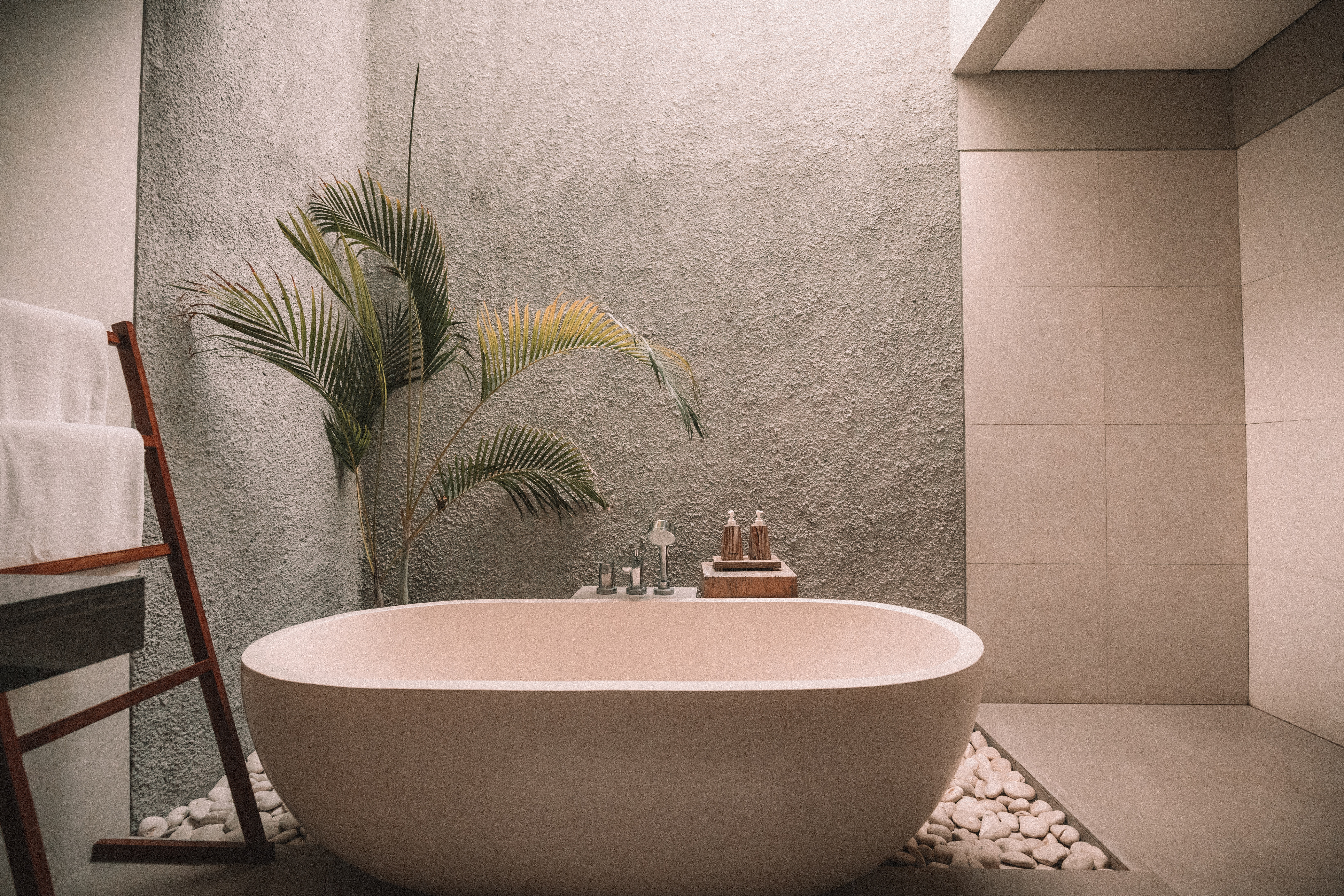 Garden Bath Tub In Bathroom