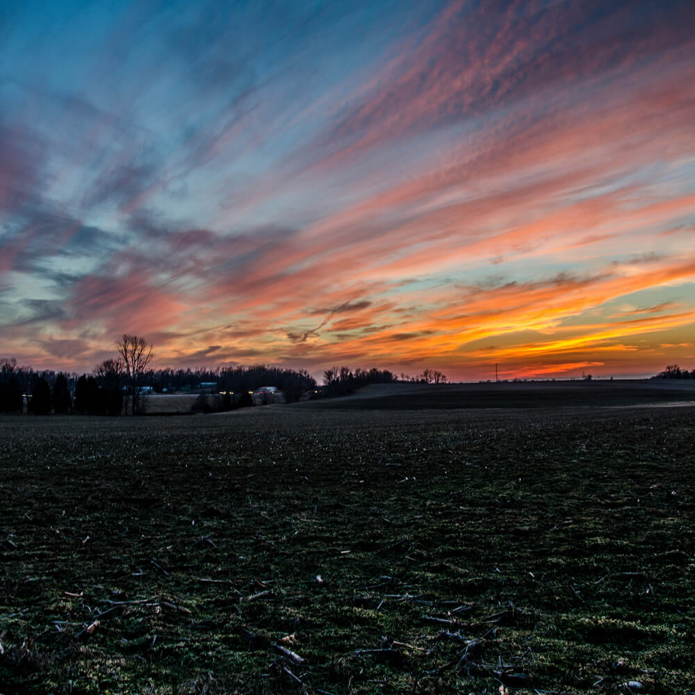 Sunset over Indiana Field