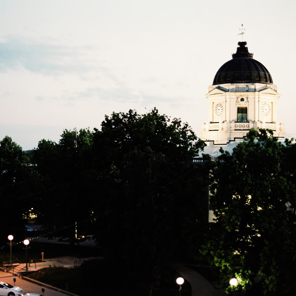 The Courthouse at Downtown Bloomington, Indiana